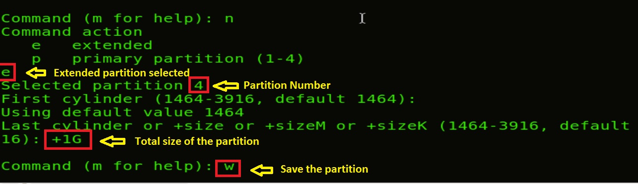 how to create partition in linux