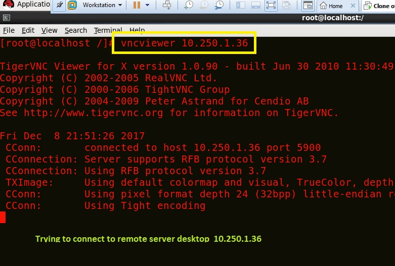 How to configure VNC-SERVER access in Red hat Linux