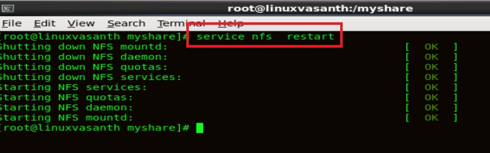How to configure NFS server and NFS Client in Redhat Linux